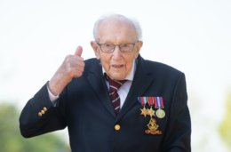 Captain Tom Moore given colonel title on his 100th birthday